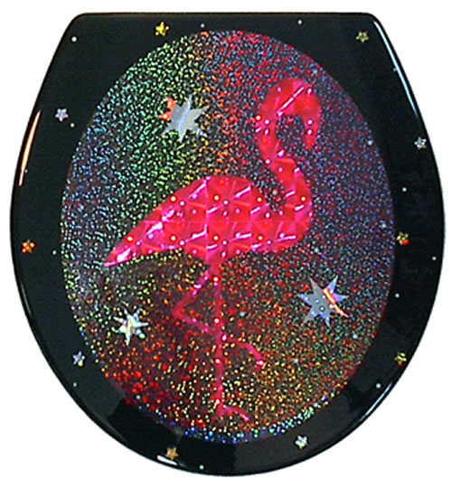 Flamingo Black Toilet Seat Standard Free Shipping Today